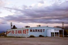 Gammal öde matmarknad i Kalifornien Royaltyfri Bild