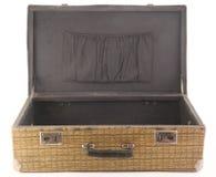 gammal öppen resväska Arkivfoto
