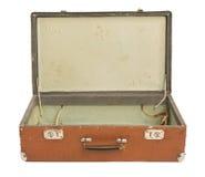 gammal öppen resväska royaltyfria foton