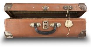 gammal öppen resväska Royaltyfri Foto