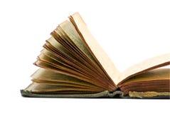 Gammal öppen tappningbok Arkivbilder