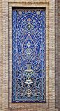 Gammal östlig mosaik på väggen, Uzbekistan Arkivfoton
