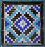 Gammal östlig mosaik på väggen, Uzbekistan Arkivbild