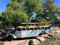 gammal övergiven buss Fotografering för Bildbyråer