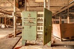 gammal övergiven fabrik Royaltyfri Fotografi