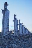 Gammal övergiven fabrik i Polen Royaltyfri Fotografi