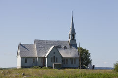 Gammal övergiven kyrka royaltyfri foto
