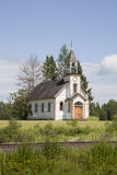 Gammal övergiven kyrka fotografering för bildbyråer
