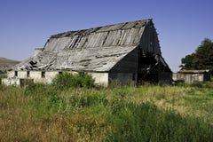 gammal övergiven ladugård Arkivfoto