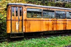 Gammal övergiven passagerarevagn Royaltyfria Bilder