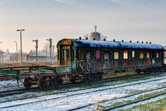 Gammal övergiven vagn Fotografering för Bildbyråer