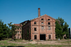 gammal abandonded fabrik Royaltyfria Bilder