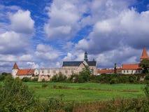Gammal abbotskloster i Sulejow, Polen Arkivfoton