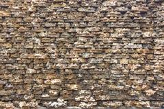 Gammal abstrakt modell av dekorativa yttersidor för stenvägg Arkivfoto