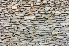 Gammal abstrakt modell av dekorativa yttersidor för stenvägg Royaltyfria Foton