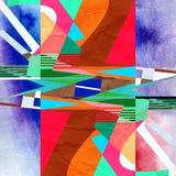 Gammal abstrakt vattenfärgbakgrund Royaltyfria Foton
