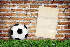 gammal affisch för fotboll Arkivbilder