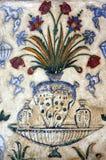 gammal agra frescoindia mausoleum Royaltyfria Bilder