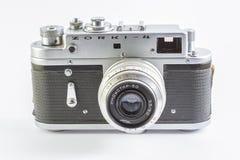Gammal aluminium kamera Gjort i 60-tal, 70-tal Arkivbild