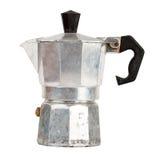Gammal aluminum kaffebryggare Arkivbild