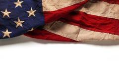 Gammal amerikanska flaggan för Memorial Day eller 4th av Juli Fotografering för Bildbyråer