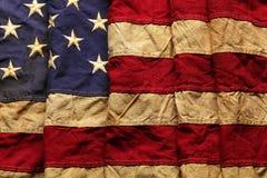 Gammal amerikanska flagganbakgrund Arkivfoto