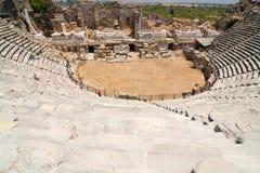 Gammal amfiteater i sida Arkivbilder