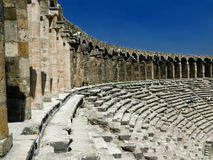 gammal amphitheateraspendosgrek Royaltyfria Bilder