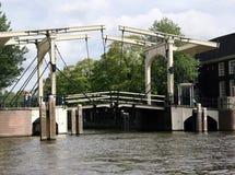 gammal amsterdam bro Royaltyfri Foto