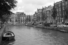 gammal amsterdam stad Arkivfoto
