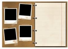 gammal anteckningsbok Fotografering för Bildbyråer