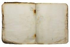 gammal anteckningsbok Royaltyfri Fotografi