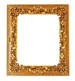 Gammal antik guld- ram som isoleras på vit bakgrund Royaltyfria Foton