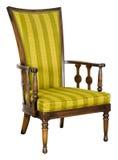 Gammal antik Retro stol som isoleras på White Arkivfoto