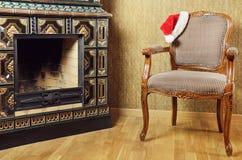 Santas fåtölj Arkivbild