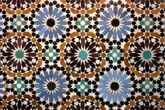 gammal arabisk mosaik Arkivfoto