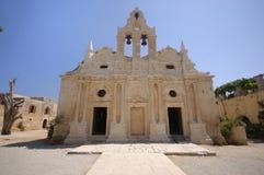 gammal arkadicrete greece kloster Arkivbild