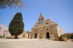 gammal arkadicrete greece kloster royaltyfri bild