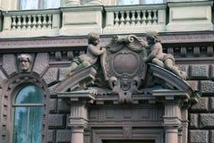 Gammal arkitektur av den St Petersburg staden, Ryssland Royaltyfria Foton