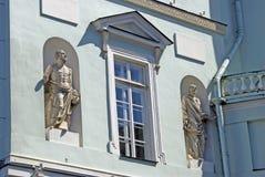 Gammal arkitektur av den St Petersburg staden, Ryssland Arkivfoto