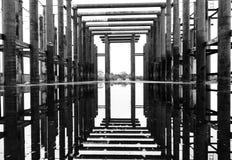 Gammal arkitektur i det svartvita fotoet, abstrakt begrepp Arkivfoton