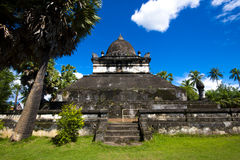 Gammal arkitektur i forntida buddistisk tempel II Royaltyfri Fotografi