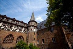 Gammal arkitektur i Marburg Fotografering för Bildbyråer