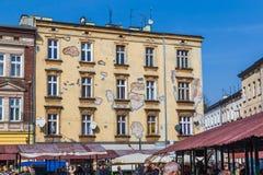 Gammal arkitektur på Plac Nowy royaltyfria bilder