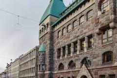 Gammal arkitekturbyggnad i Helsingfors, Finland arkivbild