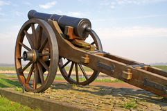 gammal artillericanon Arkivfoton