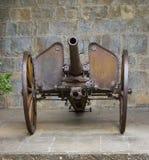 Gammal artillerijärnkanon Arkivfoto