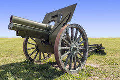 gammal artillerikanon Royaltyfri Foto