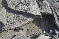Gammal asfaltbeläggning Arkivbild