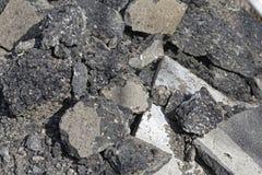 Gammal asfaltbeläggning Arkivfoto